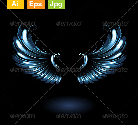 GraphicRiver Glowing Angel Wings 8372509