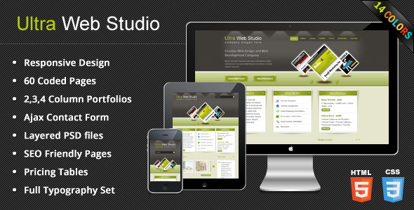 UltraWebStudio - Responsive Multipurpose HTML Theme