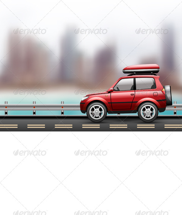 GraphicRiver Car on the Road 8372543