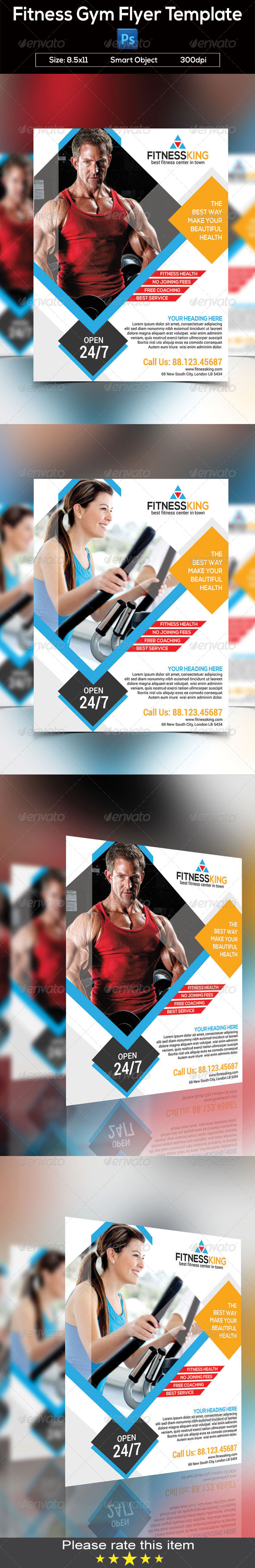 GraphicRiver Fitness Gym Flyer Template 8372566