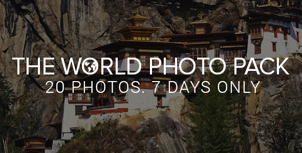 ThemeForest Envato Exclusive The World Photo Pack 8355694
