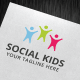 Social Kids Logo Template - GraphicRiver Item for Sale