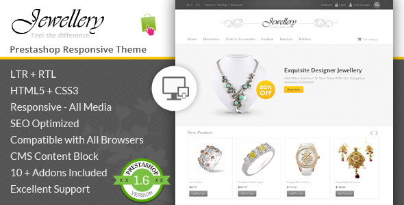 Jewellery Prestashop Responsive Template