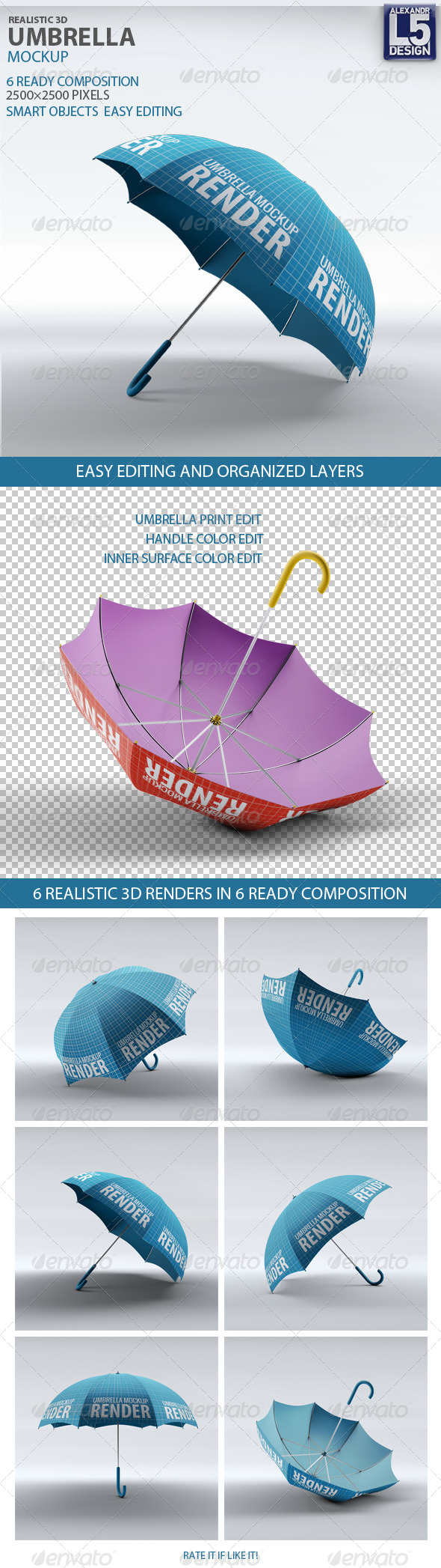 GraphicRiver Umbrella Mock-Up 8372939