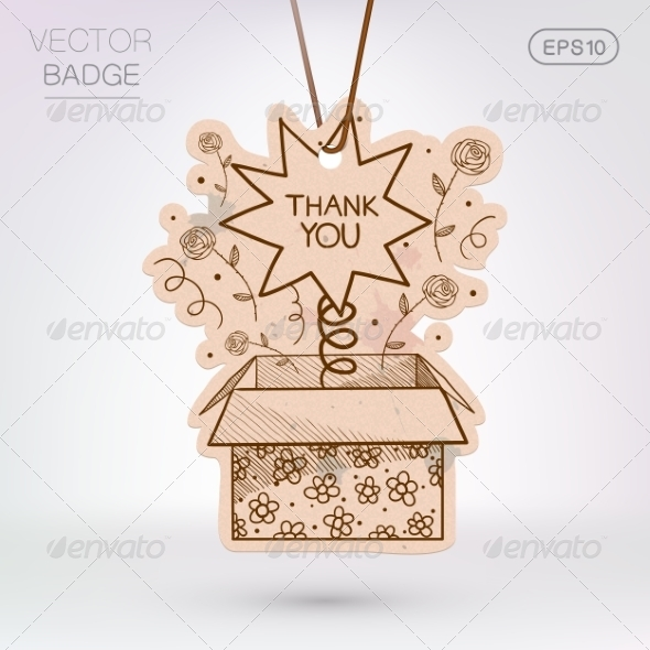 GraphicRiver Vintage Styled Label Present Surprise Box 8373034