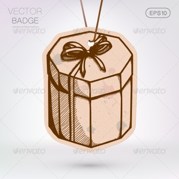 GraphicRiver Vintage Styled Label Present Surprise Box 8373036