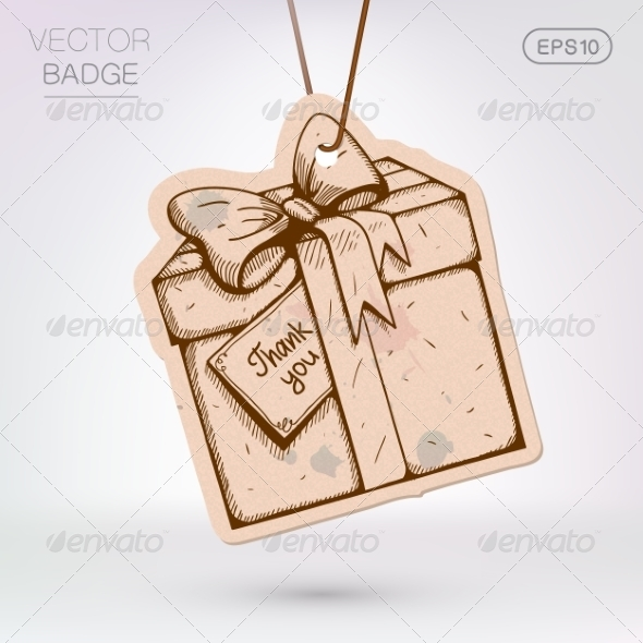 GraphicRiver Vintage Styled Label Present Surprise Box 8373041