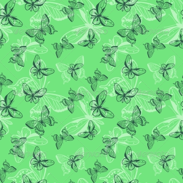 GraphicRiver Butterflies Seamless Pattern 8373047