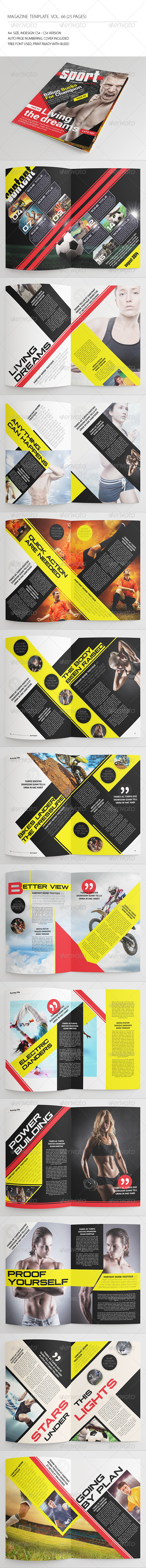GraphicRiver 25 Pages Sport Magazine Vol66 8373063