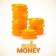 Columns of Coins - GraphicRiver Item for Sale
