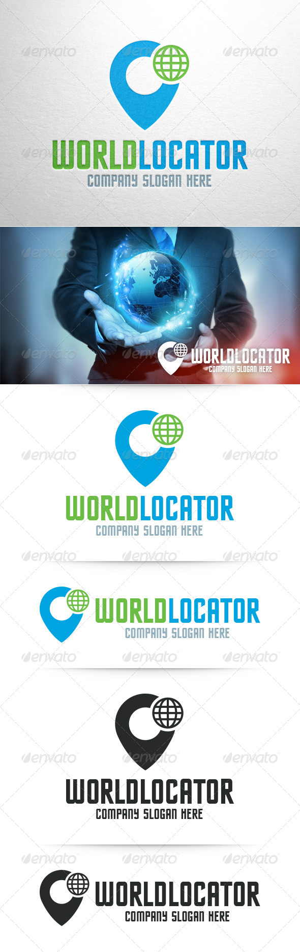 GraphicRiver World Locator Logo Template 8373105