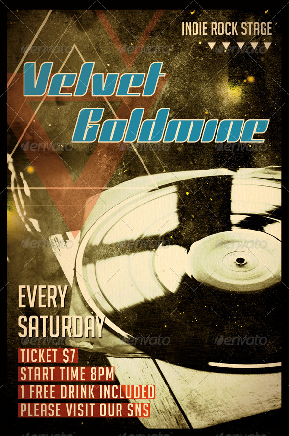 GraphicRiver Velvet Goldmine Flyer 8373137