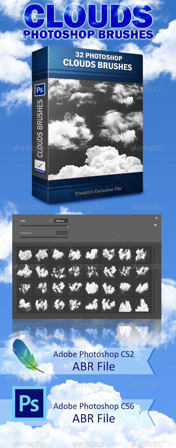 GraphicRiver Clouds Brushes 8373169