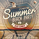 Summer Beach Party Flyer