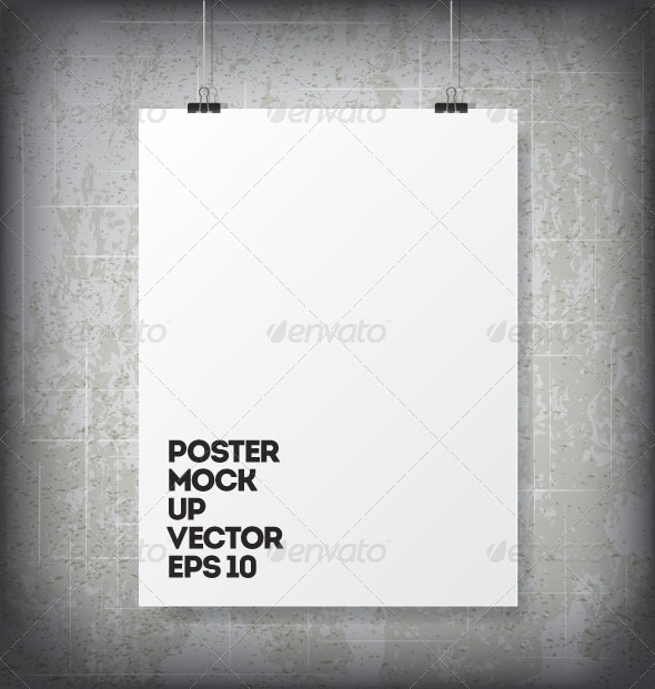 GraphicRiver Poster Mock Up 8373239