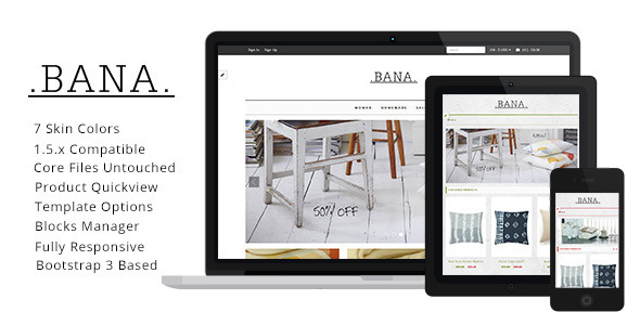 Bana - Responsive Zen Cart Template - Fashion Zen Cart