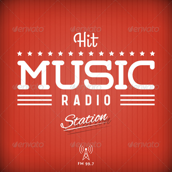 GraphicRiver Hit Music Radio 8373275