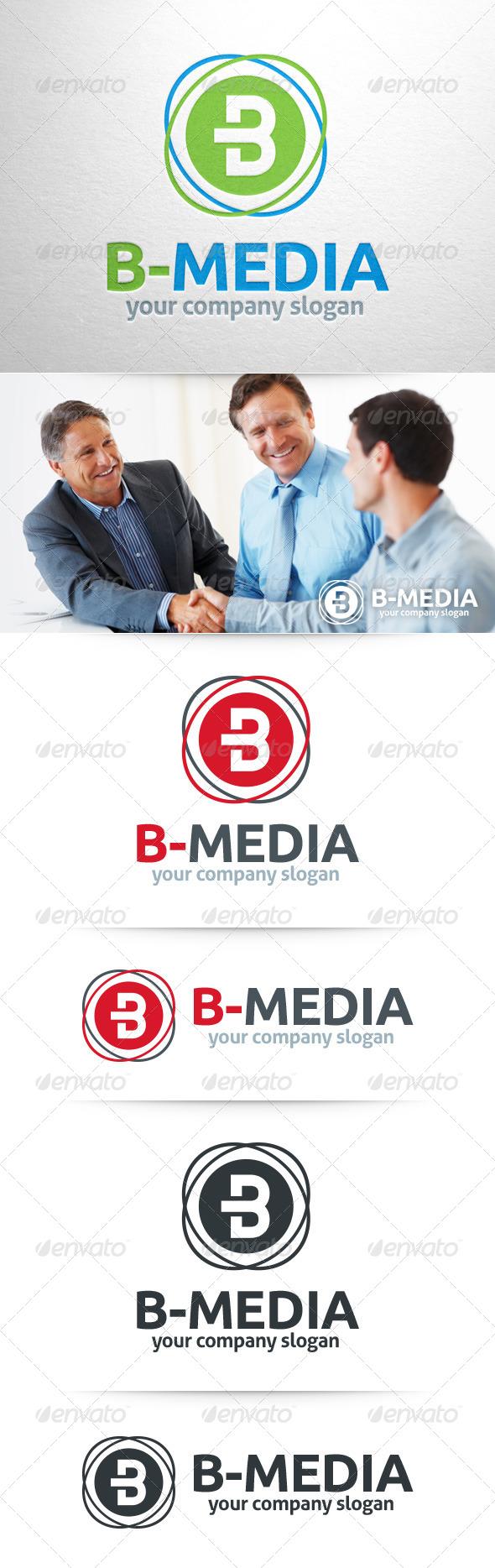 GraphicRiver B-Media Letter B Logo 8373294
