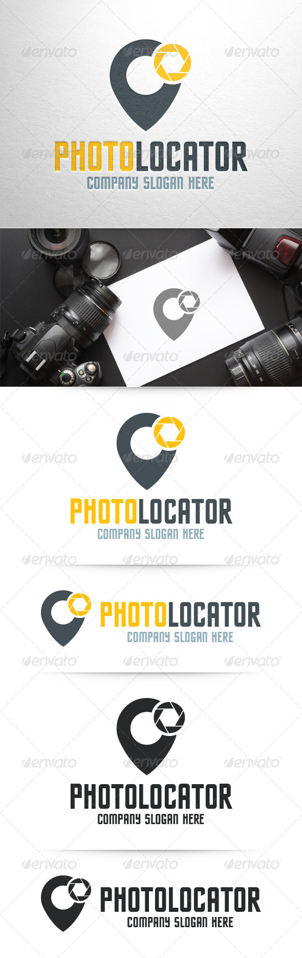 GraphicRiver Photo Locator Logo Template 8373311