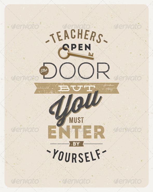 GraphicRiver Quote About a Teacher 8373402