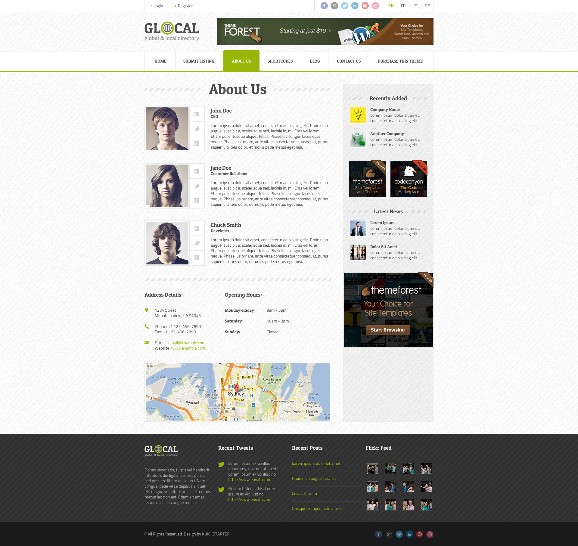 GLOCAL - Directory & Listings Wordpress Theme