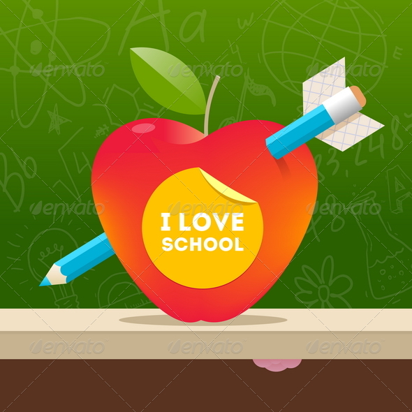 GraphicRiver I Love School 8373420