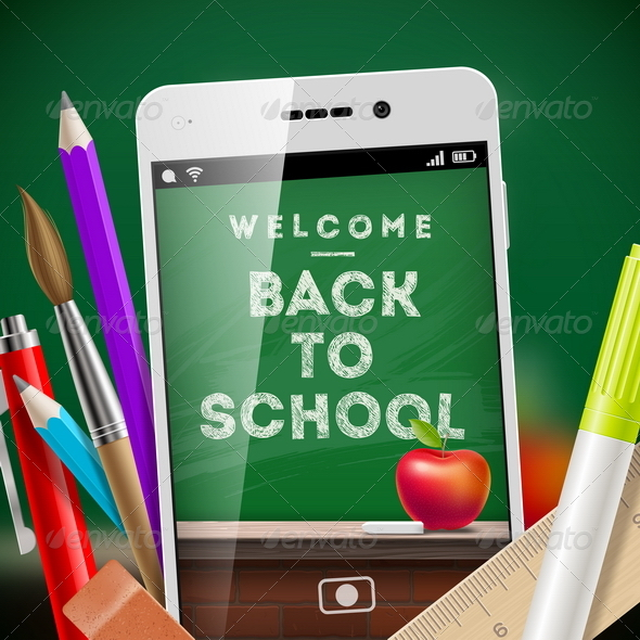 GraphicRiver Back to School Vector Design 8373433