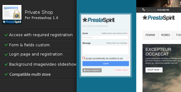 CodeCanyon Private Shop for Prestashop 8373439