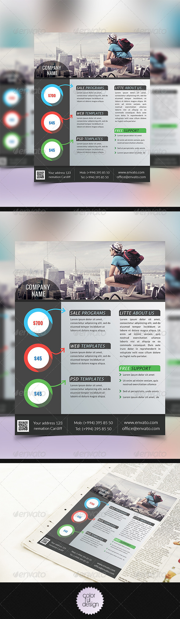 GraphicRiver Corporate Flyer Template 8373442
