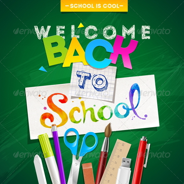 GraphicRiver Back to School Vector Illustration 8373517