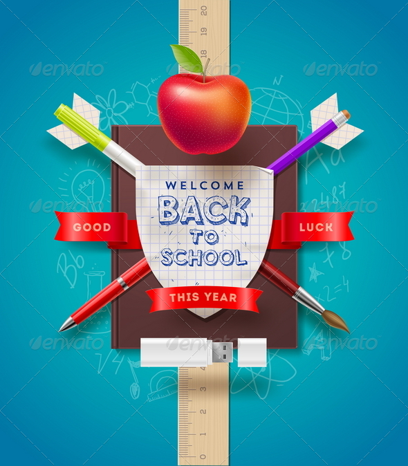 GraphicRiver Back to School Vector Illustration 8373548