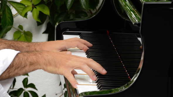 VideoHive Hands Playing Piano 8373552
