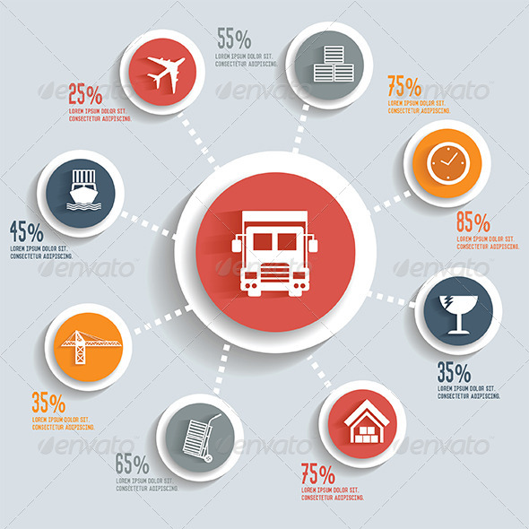 GraphicRiver Logistics Infographic 8373555