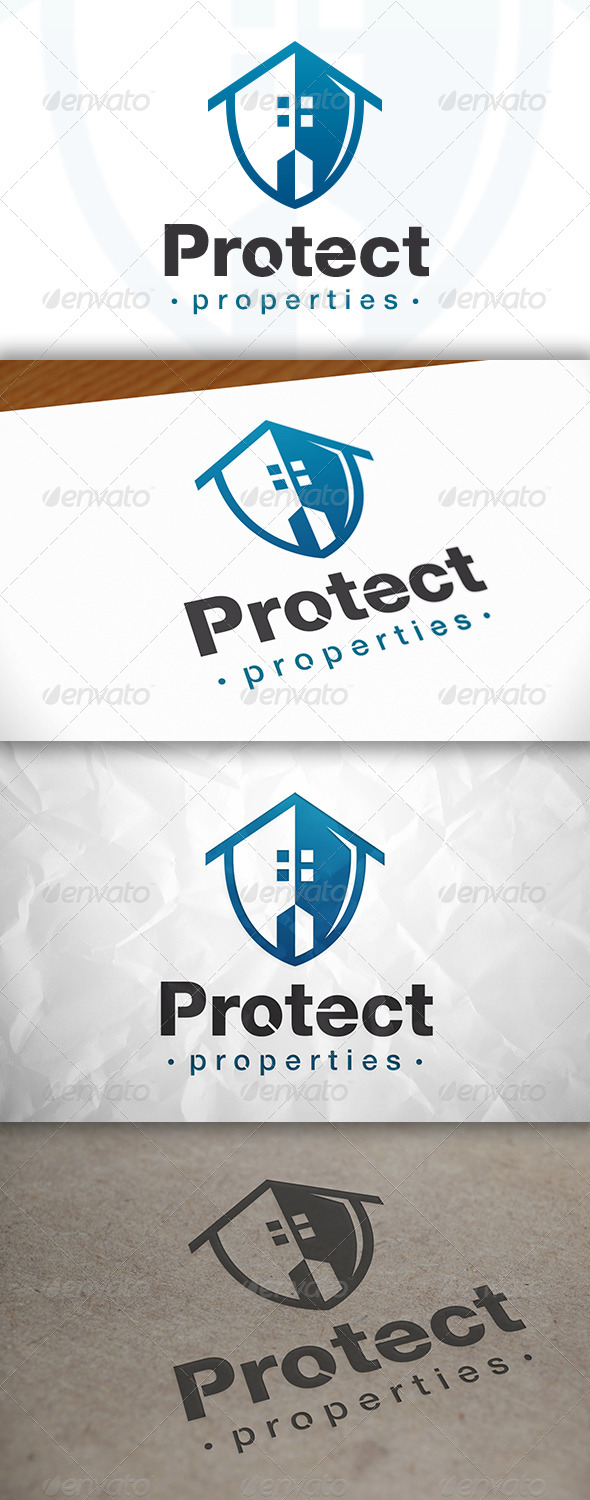 GraphicRiver Protect House Logo 8373567