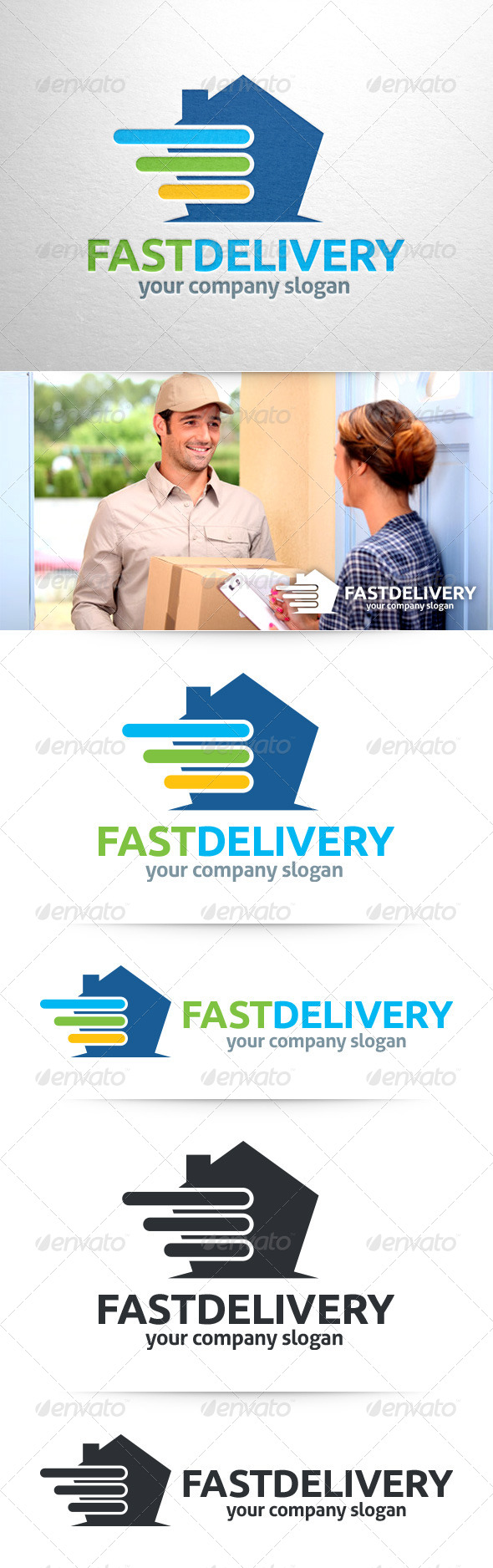 GraphicRiver Fast Delivery Logo Template 8373578