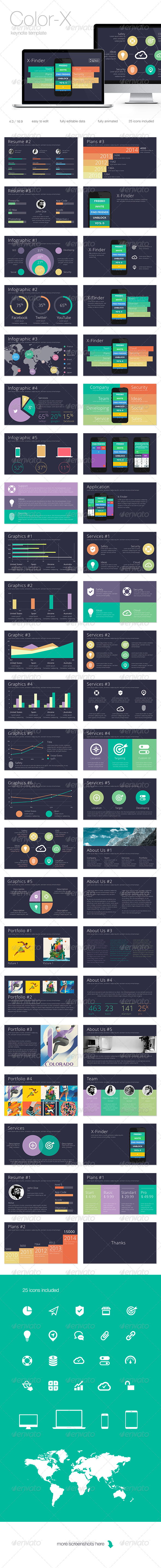 GraphicRiver Color-X Keynote Template 8365792