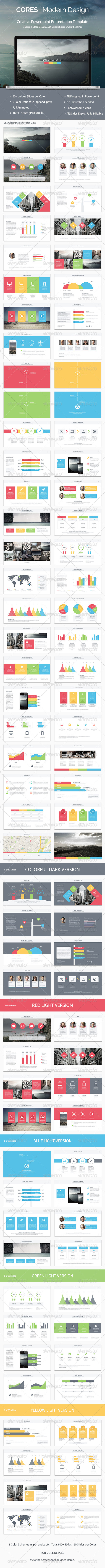 GraphicRiver Cores Powerpoint Presentation Template 8365790