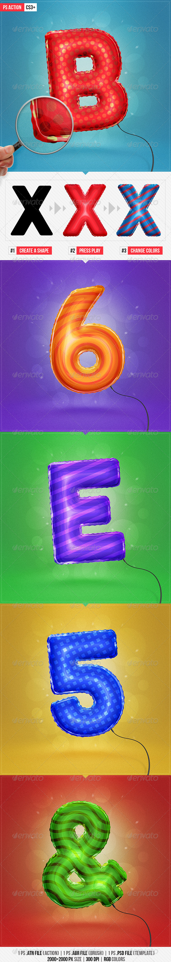 GraphicRiver Balloon Effect Ps Action 8373629