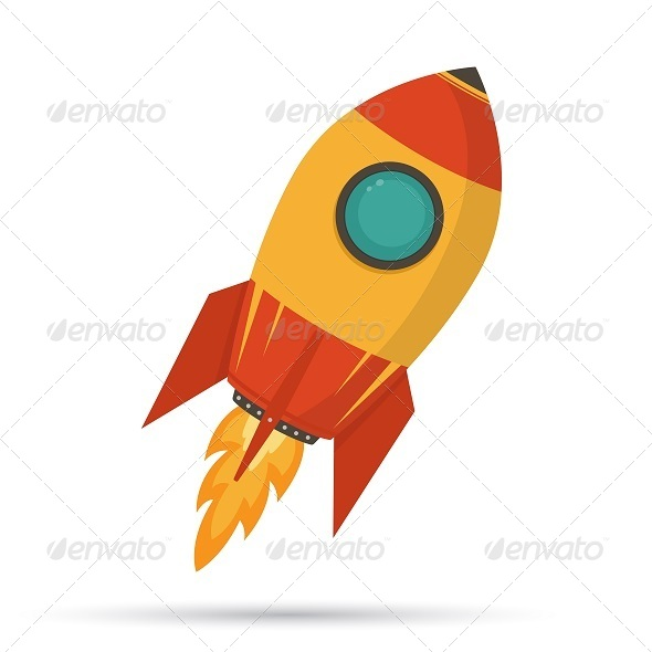 GraphicRiver Startup Cosmic Rocket 8373633