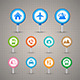 Map Pins with Transportation Icons Set - GraphicRiver Item for Sale