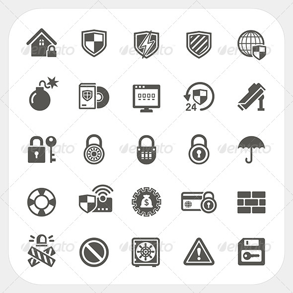 GraphicRiver Security Icons Set 8373686