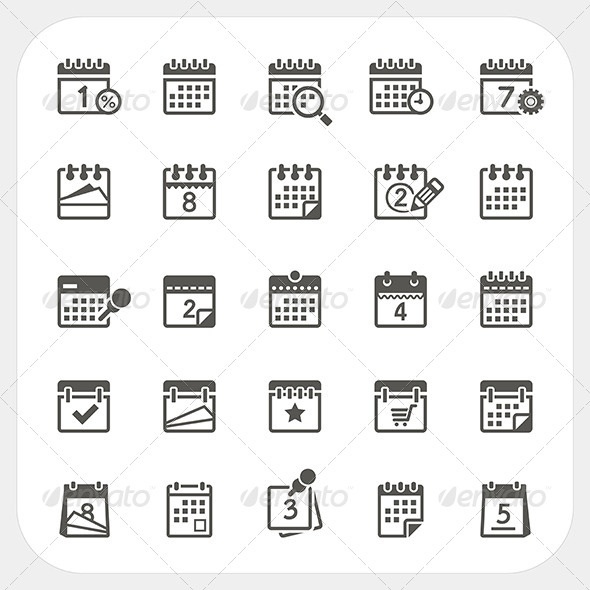 GraphicRiver Calendar Icons Set 8373700