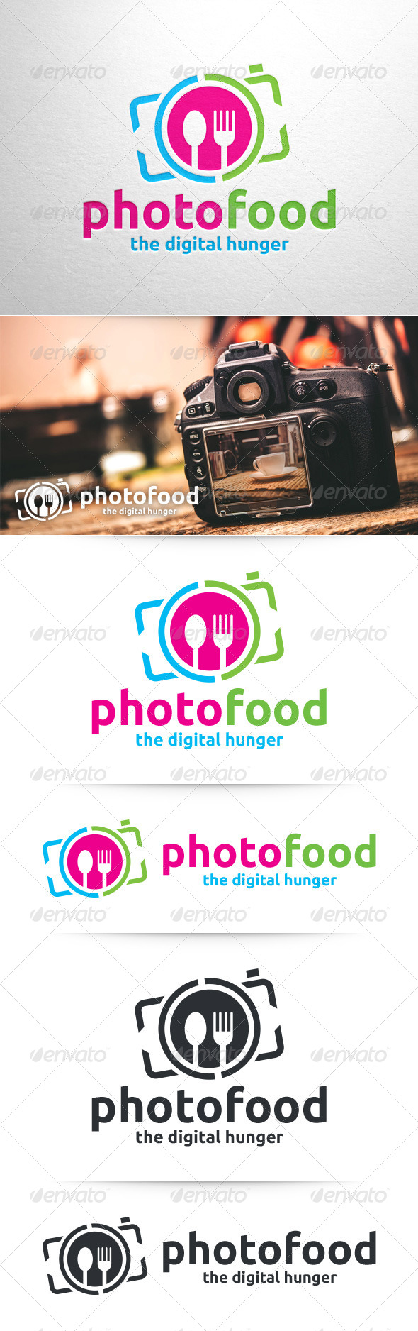GraphicRiver Photo Food Logo Template 8373737