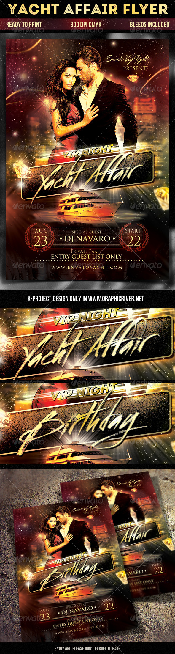 GraphicRiver Yacht Affair Flyer 8373744