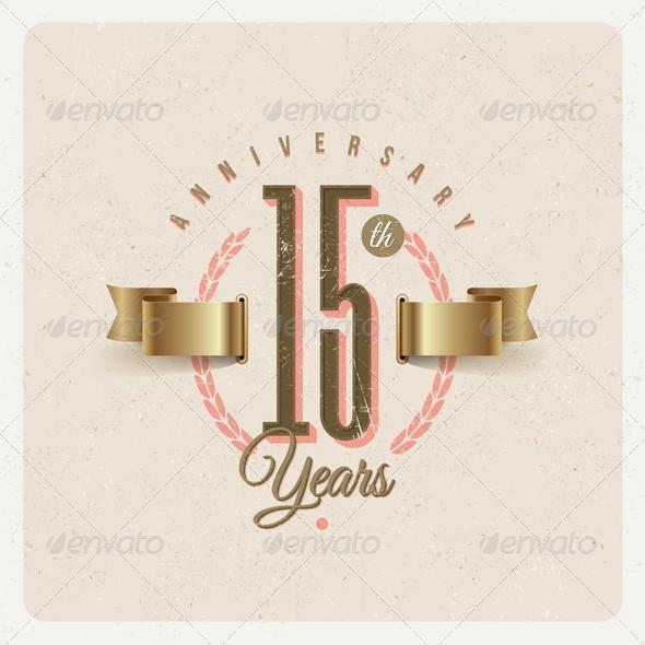 GraphicRiver Vintage Anniversary Type Emblem 8373752