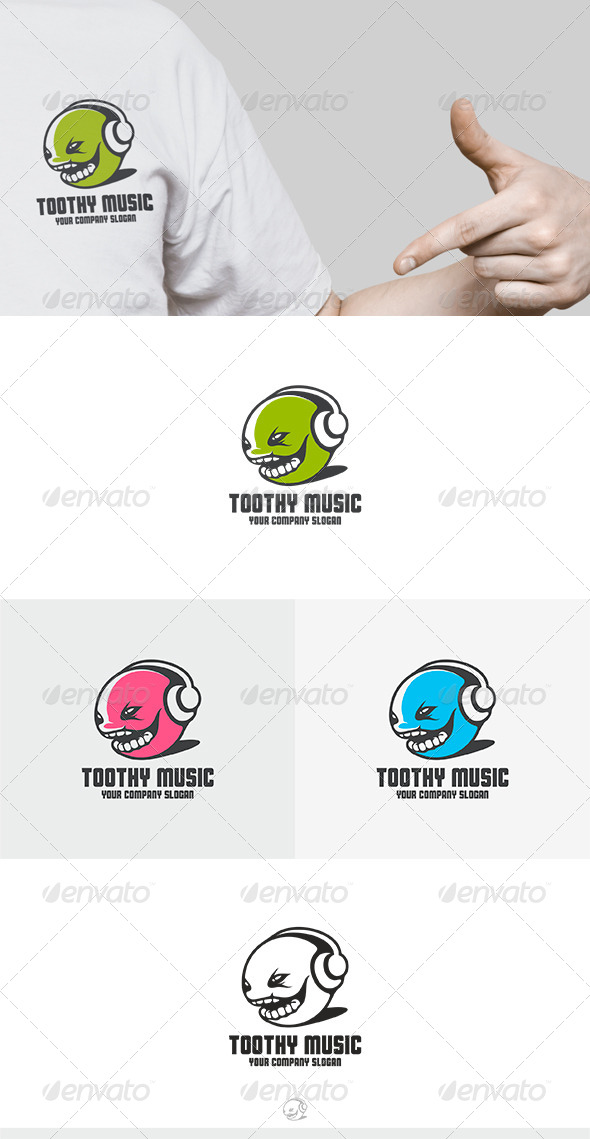 GraphicRiver Toothy Music Logo 8373789
