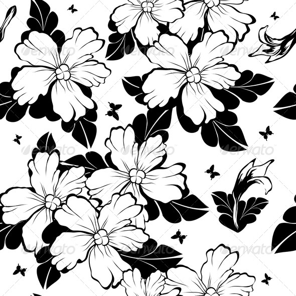 GraphicRiver Seamless Floral Pattern 8373791