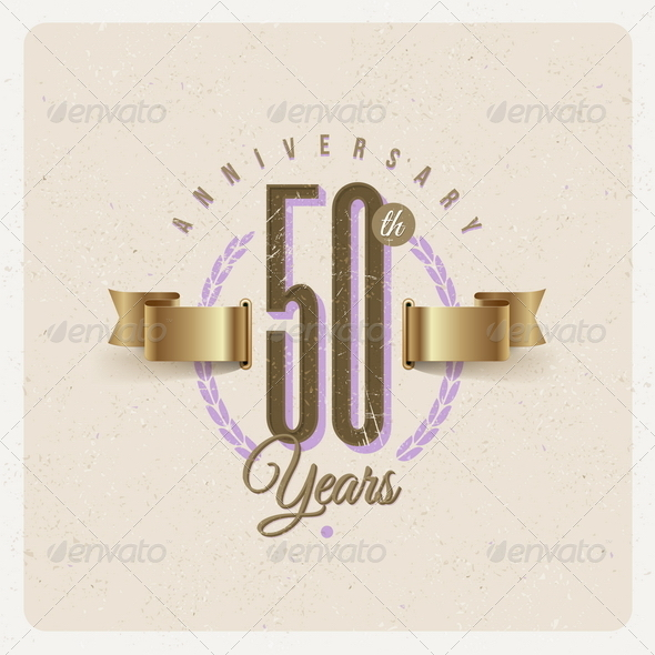 GraphicRiver Vintage Anniversary Type Emblem 8373799