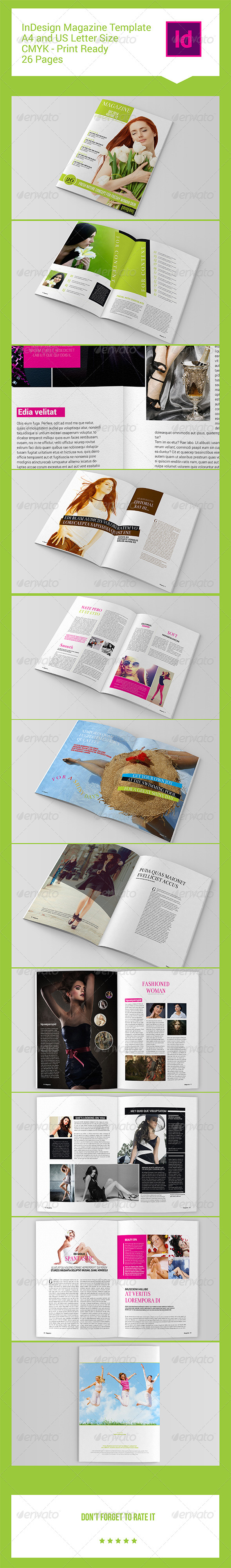 GraphicRiver InDesign Magazine Template 26 Pages 8373829