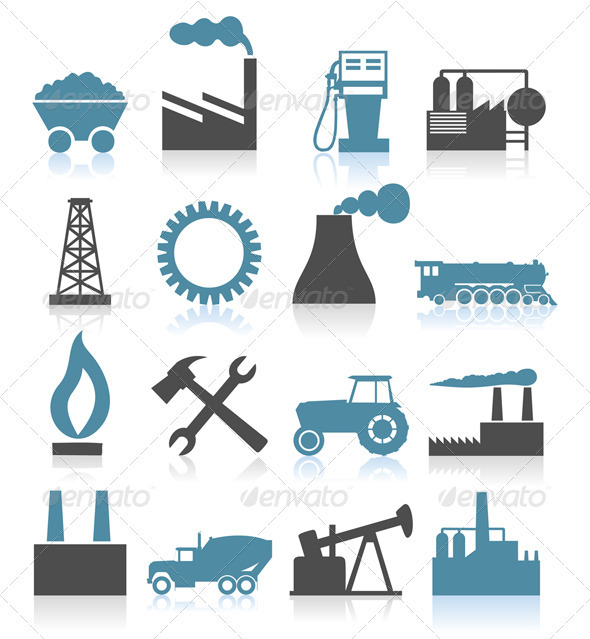 GraphicRiver Industrial icons5 850658